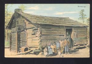 FORT WORTH TEXAS BLACK AMERICANA BLACK LOG CABIN ANTHONY KANSAS POSTCARD