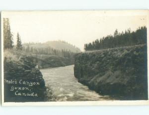 Pre-1918 rppc NICE VIEW Miles Canyon Crescent - Near Whitehorse YT i9306