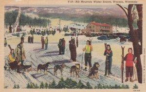 WAUSAU , Wisconsin , 1930-40s : Rib Mountain , Skiing