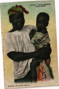 CPA Senegal-Dakar-Femme Bambara et son Enfant (235406)