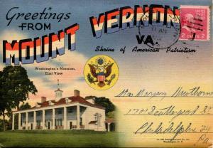Folder - Virginia, Mount Vernon  (29 views + covers + narrative)