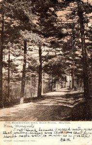 Massachusetts Milton Blue Hills The Reservation Road 1906