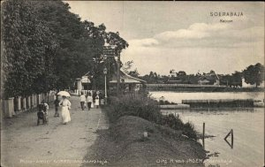 Soerabaja Indonesia 1909 Used Postcard to New Bedford MA