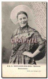 Old Postcard Boulogne Sur Mer Matelotte Boulonnaise fishing Folklore Costume
