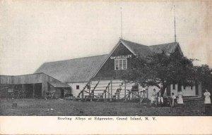 Grand Island New York Edgewater Bowling Alley Vintage Postcard JJ658891