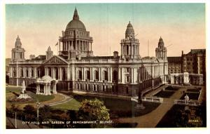 15119   Northern  Ireland Belfast 1920's City Hall and Garden of Remembr...