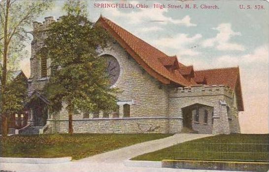 Ohio Springfield High Street M E Church 1908
