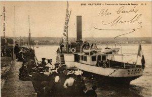 CPA Carteret - L'Arrivée du Bateau de Jersey (632929)
