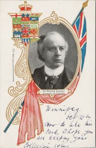 Sir Wilfrid Laurier Premier of Canada Prime Minister Patriotic Postcard G86