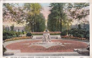 Pennsylvania Philadelphia Sun Dial At Sunken Gardens Fairmount Park