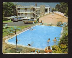 TN Dogwood Motel GATLINBURG TENNESSEE Postcard Folder Type