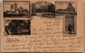 San Antonio Texas Vignettes~Missions~San Pedro Springs~Pepitorias Seller~1904