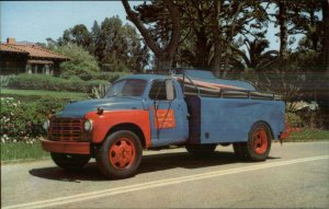 Lee & Neal Sanitary Pump Truck Santa Barbara CA Adv Postcard