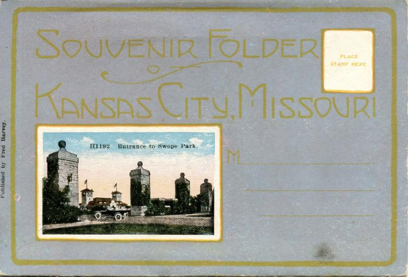 Folder - Kansas City, Missouri. Circa 1915, Fred Harvey Publisher (18 views +...
