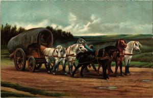 CPA STENGEL 29191 A Waggon and Team of Horses (744909)