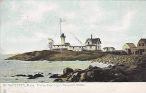 Eastern Point Lighthouse, Gloucester Harbor, Gloucester, Massachusetts, PU-1908