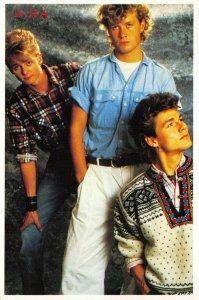 Vintage 1980s Pop Music Group Postcard, A-Ha, Just Seventeen HC7