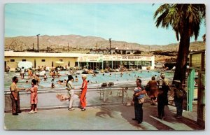 Desert Hot Springs CA~Lido-Highland Spa Swimming Pool~Hot Mineral Water~1970s PC