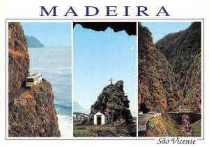 Portugal Madeira Sao Vicente, Porto do Moniz Two Villages Auto Bus Bridge Cross