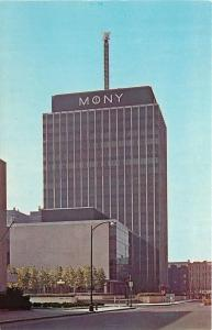 Syracuse NY~MONY Plaza Towers~Glass Front Office Buildings~Street View~1960s