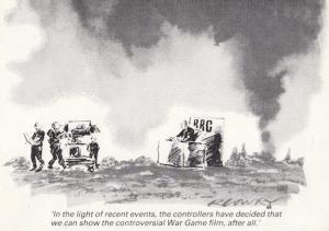 War Game BBC2 Military Banned Film Censorship Postcard