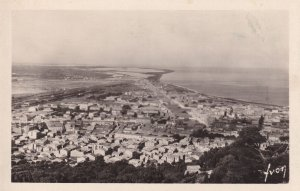 Sete Seafront Aerial Birds Eye Vintage French Real Photo Postcard