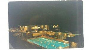 Vintage Postcard Radium Hot Springs at Night Kootenay British Columbia Canada