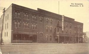 Watertown South Dakota~Kampeska Hotel~c1910 Sepia Postcard
