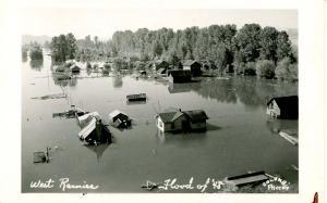 WA - West Rainier. Flood of 1948.   *RPPC