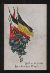 068771 WWI GERMAN PROPAGANDA Turkish flag Vintage PC