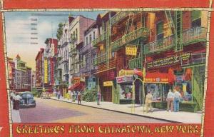 New York Chinatown Greetings From Chinatown 1960