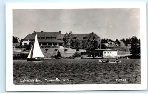 *Lakeside Inn Yarmouth Nova Scotia Sailboat Canada Vintage Photo Postcard C87
