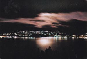 Night View, CORNER BROOK, Newfoundland, Canada, PU-1984