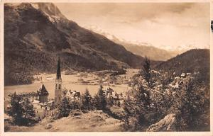 Switzerland Old Vintage Antique Post Card St Mortitz 1926 Real Photo