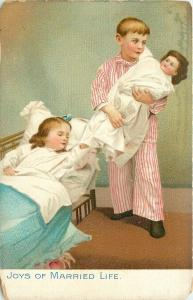 Children Play At Joys Of Married Life With Doll~TUCK~Little Men & Women Series