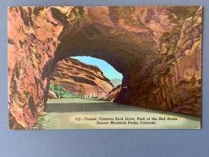 Park Of the Red Rocks Denver Mountain Parks CO Chrome Postcard A1198085657