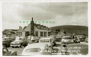 1955 US 15 Pennsylvania Roadside Real Photo PC: Fry Bro's Turkey Diner – Rare