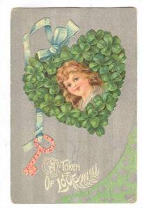 Valentine, 00-10s ; Child in Clover Heart