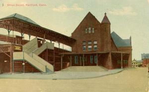 CT - Hartford. Union Railroad Station, Depot