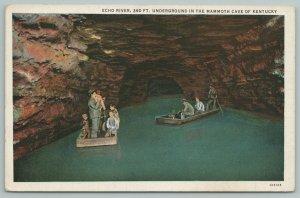 Kentucky~Echo River~Underground Mammoth Cave~Vintage Postcard