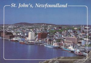 A view of Canada´s oldest city from Signal Hill,  St. John´s,  Newfoundland...