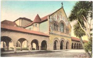 Handcolored Memorial Church Stanford University California, CA, Albertype Divide