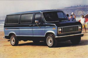 Advertisement, 1986 Club Wagon Passenger Van, On the Beach, County Ford, Grah...