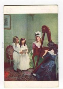 264748 PHILIPPART-QUINET Girls Concert HARP Vintage SALON #736