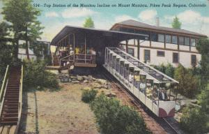 Top Station of the Manitou Incline on Mount Manitou, Pikes Peak, Colorado, 19...