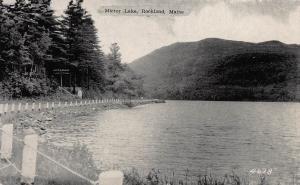 Mirror Lake, Rockland, Maine, Early Postcard, Unused