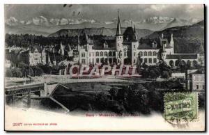 Old Postcard Switzerland Bern Museum und die Alpen