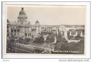 RP: Durban, South Africa, Town Hall & Gardens, PU-1937