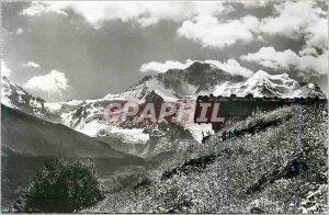 Modern Postcard Interlaken die Jungfrau 4166 m
