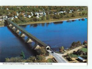 Vintage Postcard Worlds Longest Covered Bridge Hartland New Brunswick Bay # 2699